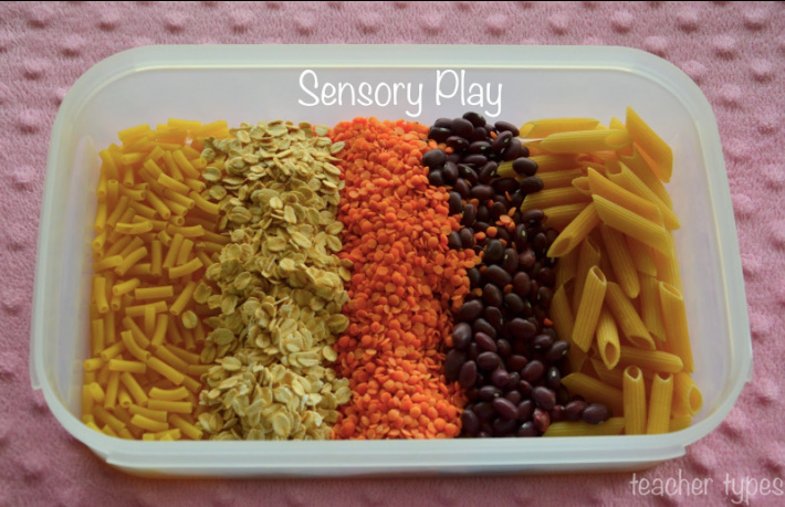Sensory Bin Foundations from Your Pantry from Teacher Types