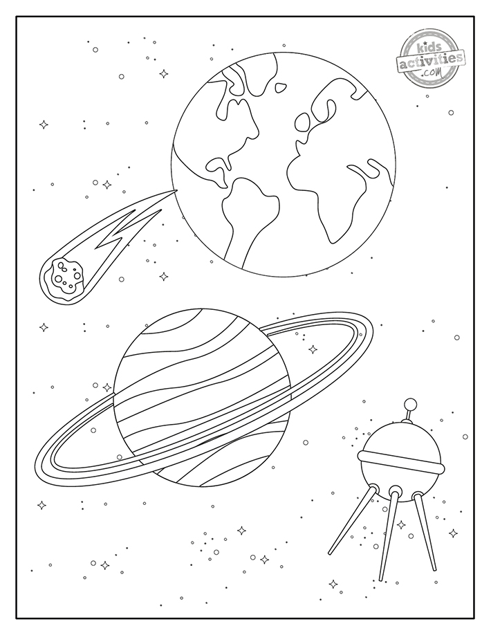 Space Coloring Pages Screenshot 2