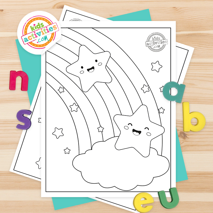 Star Coloring Pages Square