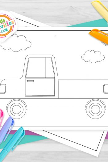 Truck Coloring Pages Feature Image