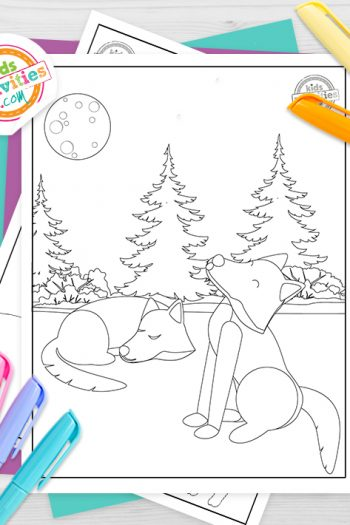 Wolves Coloring Pages Feature Image