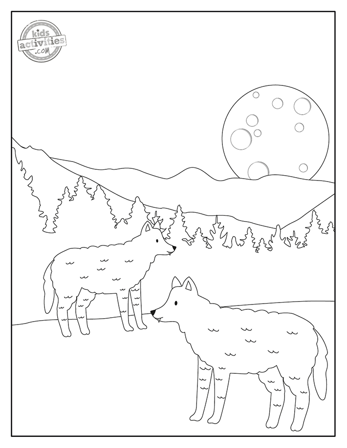 Wolves Coloring Pages Screenshot 2