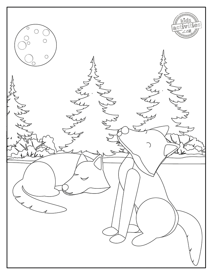 Wolves Coloring Pages Screenshot