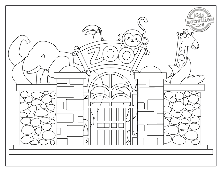 Zoo Coloring Pages Screenshot 2
