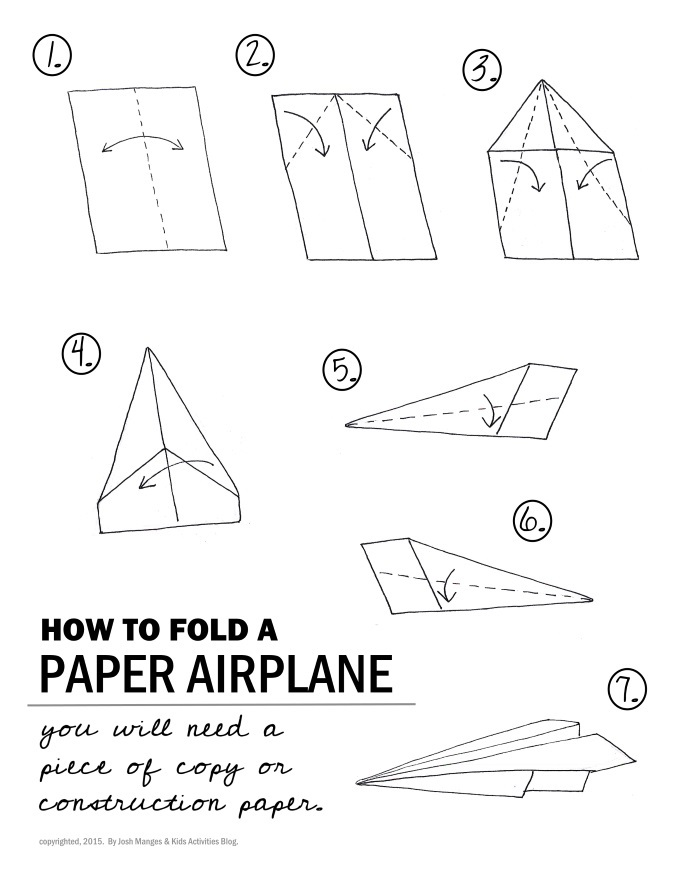 How to fold a paper airplane diagram perfect base for science project ideas