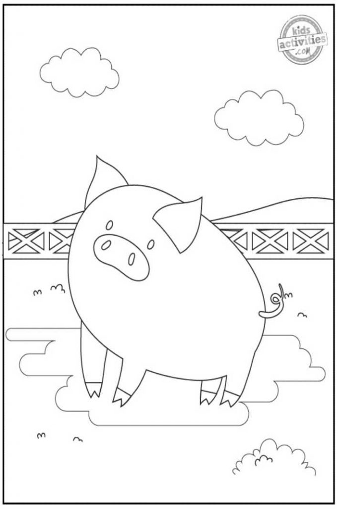 pig coloring pages 2