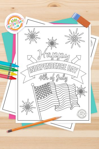 4th of July Coloring Pages Feature Image