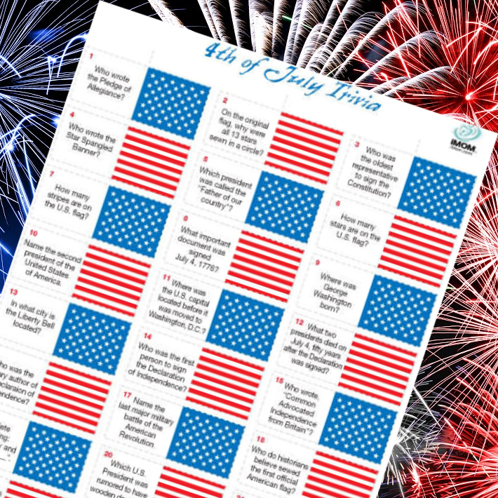 4th of july trivia printable from imom - trivia printable pdf shown on fireworks