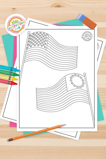 American Flag Coloring Pages Feature Image
