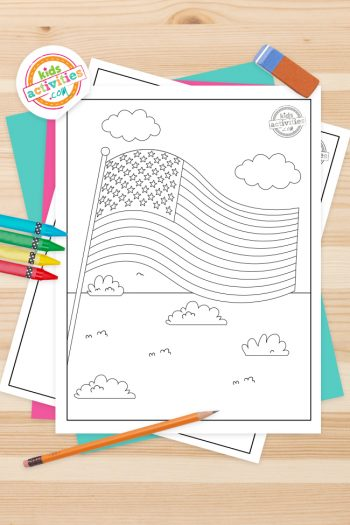 American Flag Coloring Pages Feature Image(1)