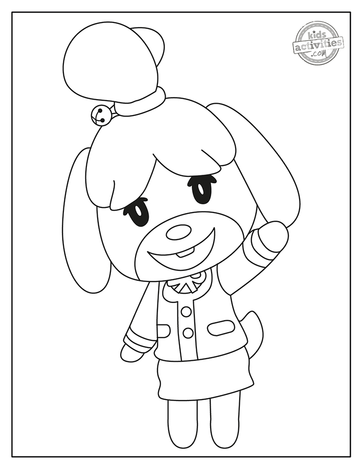 Animal Crossing Coloring Pages Screenshot