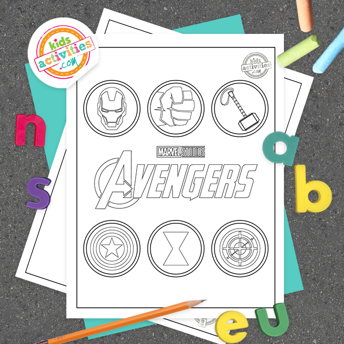 coloring pages of the avengers