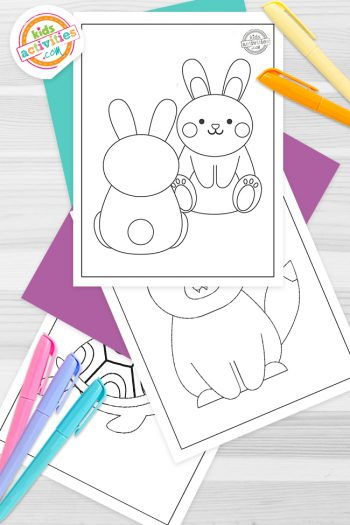 Baby Animals Coloring Pages Feature Image