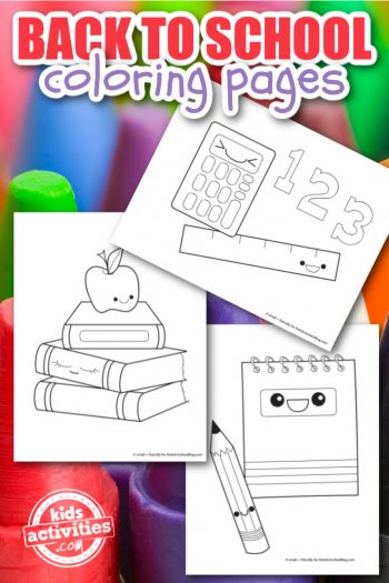 Back to School Coloring pages to download and print from Kids Activities Blog