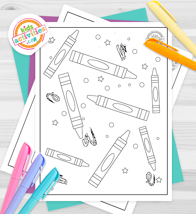 Crayola Coloring Pages Feature Image