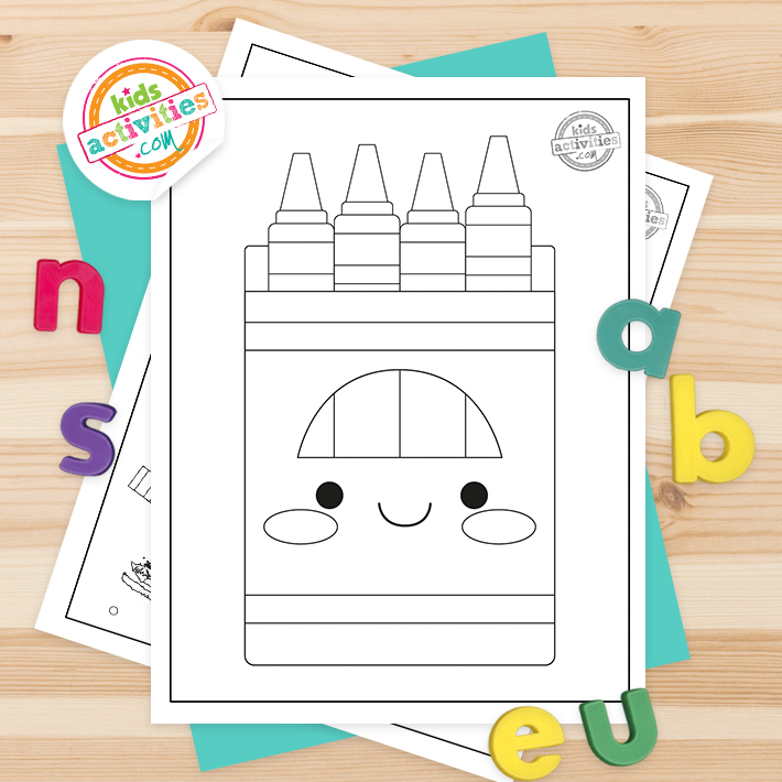 Crayola Coloring Pages Square