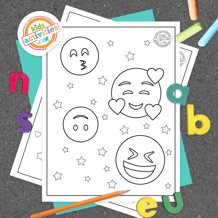 Emoji Coloring Pages Square