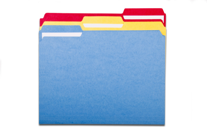 Files for File Folder Games to Make for Classroom or home - Kids Activities Blog - three files in colors red, yellow and blue pictured