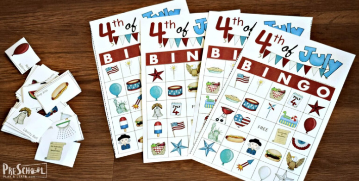 Fourth of July bingo from Preschool Play and Learn