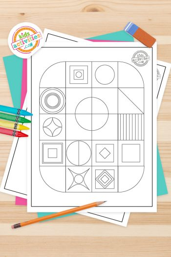 Geometric Coloring Pages Feature Image