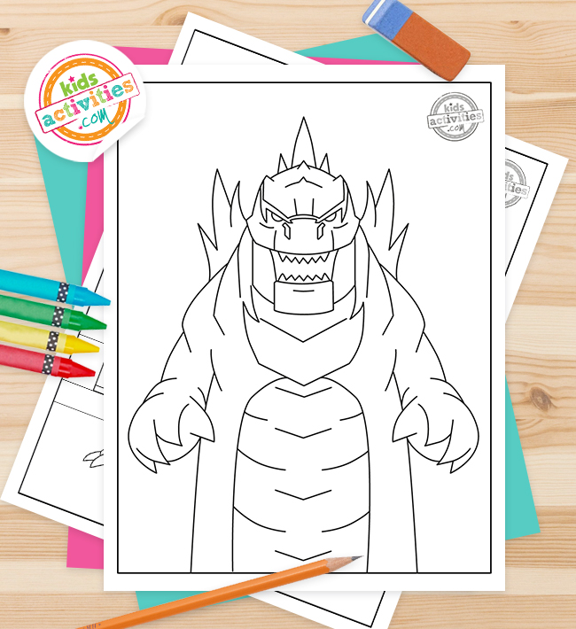 Godzilla Coloring Pages Feature Image