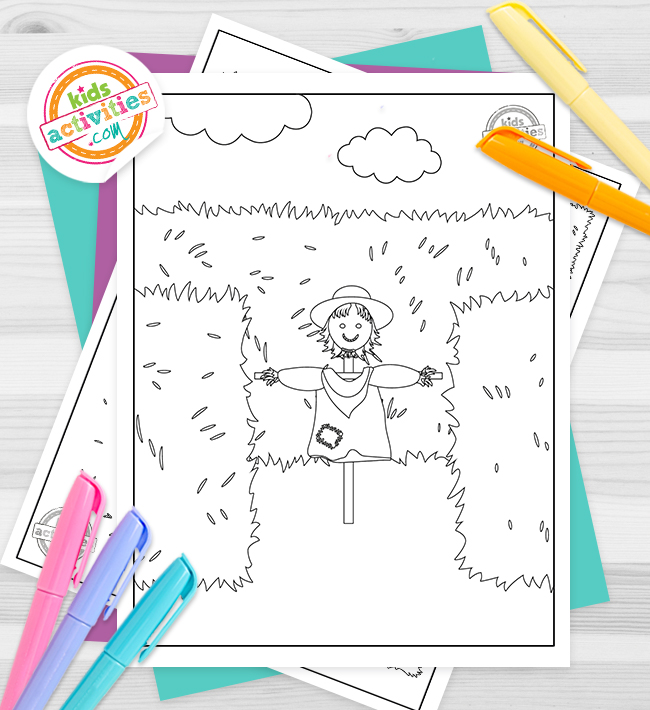 Hay Maze Coloring Pages
