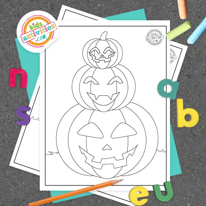 Jack O Lantern Coloring Pages Square