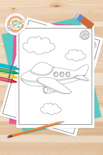 Jet Coloring Pages Feature Image