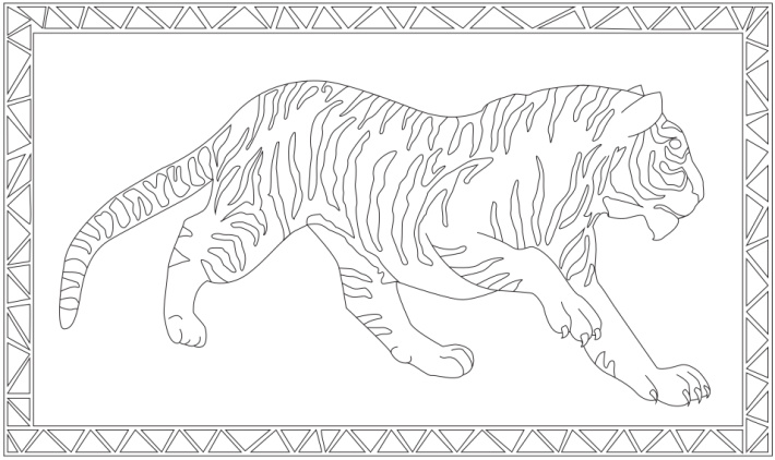Jumbo coloring pages - giant coloring page for kids - tiger picture to color