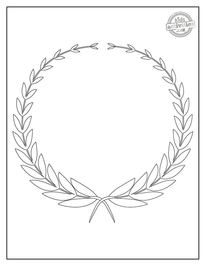 Free laurel wreath crown coloring pages