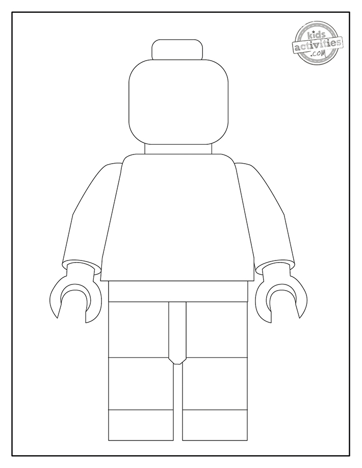 blank lego coloring page