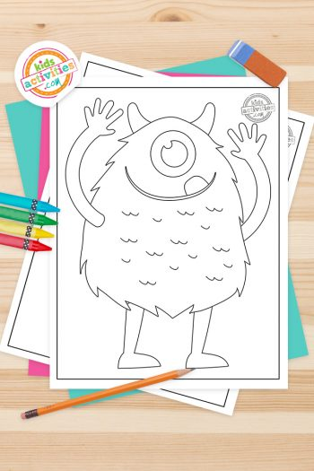 Monster Coloring Pages Feature Image