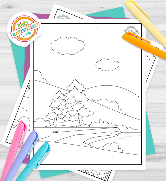 Nature Coloring Pages Feature Image