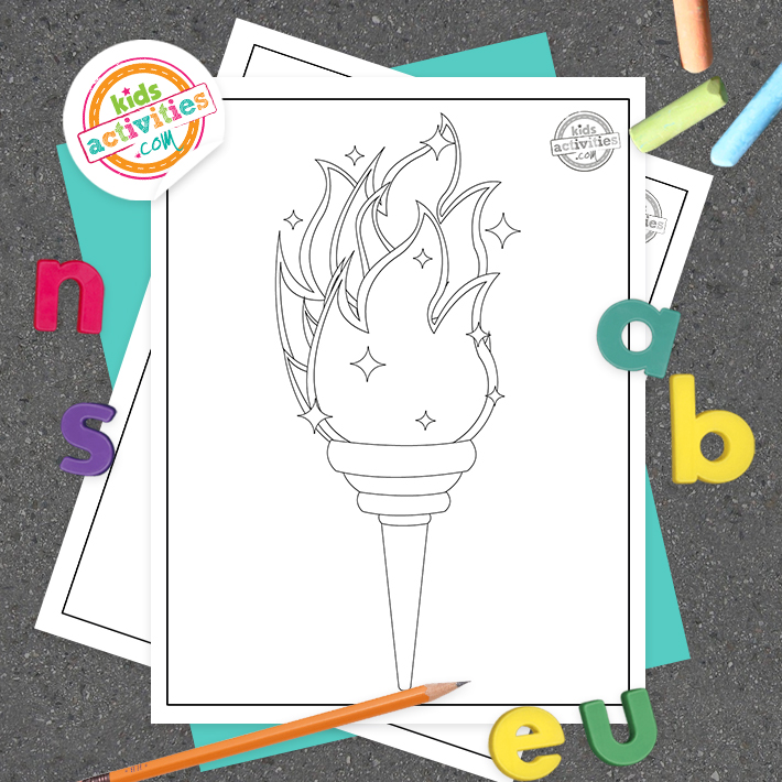 Olympics Coloring Pages Square