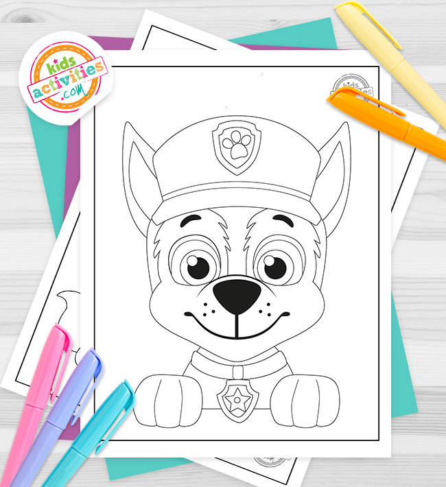 Paw Patrol Coloring Pages Feature Image