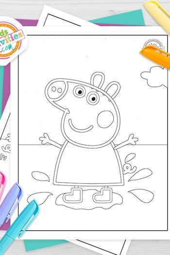 Peppa Pig Coloring Pages Feature Image