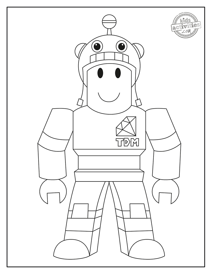 Free pdf Roblox Coloring Pages