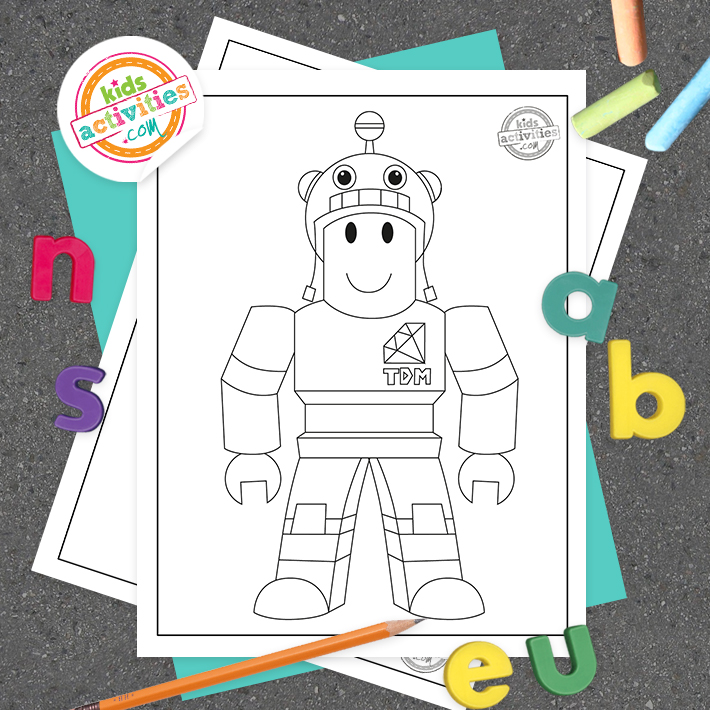 Roblox Coloring Pages Square
