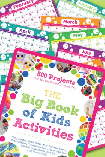 The Big Book of Kids Activities 12 Month Printable Play Calendar Feature Image