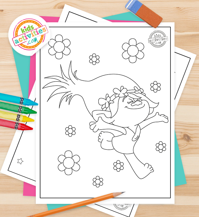 Trolls Coloring Pages Feature Image