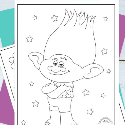 Trolls Coloring Pages Pinterest