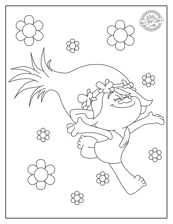 princess poppy trolls coloring pages