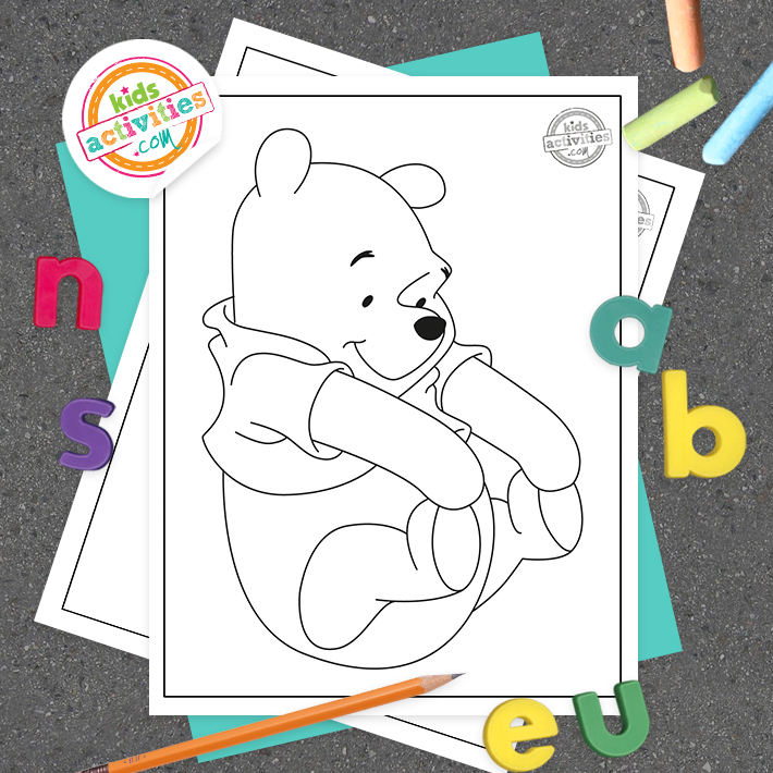 Winnie the Pooh Coloring Pages Square