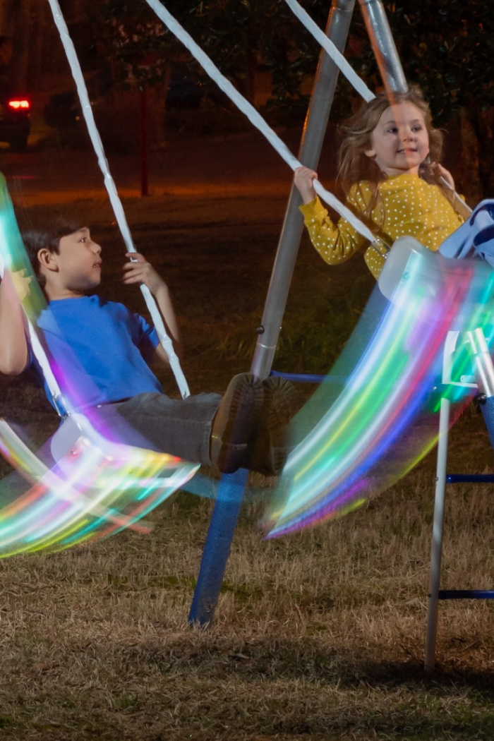 Walmart Is Selling A Swing Set Complete With LED Swings For Just $99 and You Know Your Kids Need It