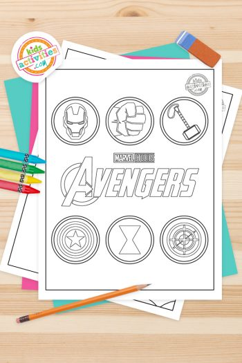 Avengers Coloring Pages Feature Image