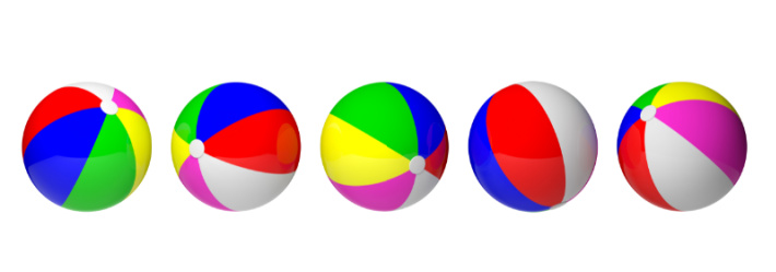 Beach Balls ready for sight words to play interactive game - Kids Activities Blog