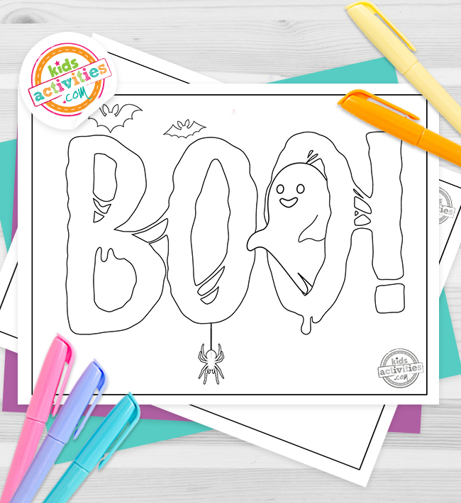 Boo Coloring Pages