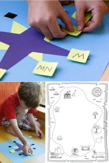 Compass Rose for Kids Project - 3 pictures of the compass rose project and printable worksheets