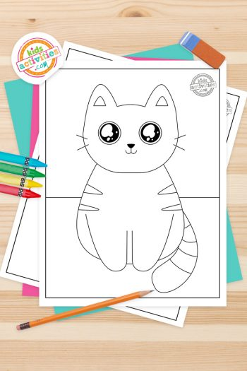 Cute Kitty Coloring Pages Feature Image