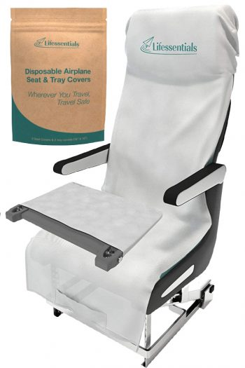 Disposable Airplane Seat and Tray Covers - feature